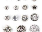 DIY手工饰品 藏银配件材料批发 天然水晶饰品隔珠隔片