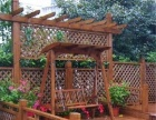 防腐木花园秋千桌椅围栏地板花架葡萄架扶手篱笆凉亭
