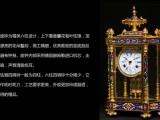 中国工艺美术大师米振雄作品鎏金铜胎珐琅六柱钟