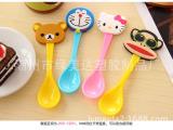 卡通公仔头勺子 冰淇淋勺 可爱动物汤匙 环保塑料勺子 儿童餐具