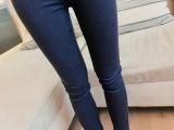 (实拍)新款 高腰提臀显瘦时尚牛仔铅笔裤小脚裤 女 长裤 084