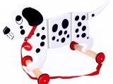 儿童益智玩具 拉线斑点狗 木制 拖拉玩具 儿童玩具 拖拉玩具狗