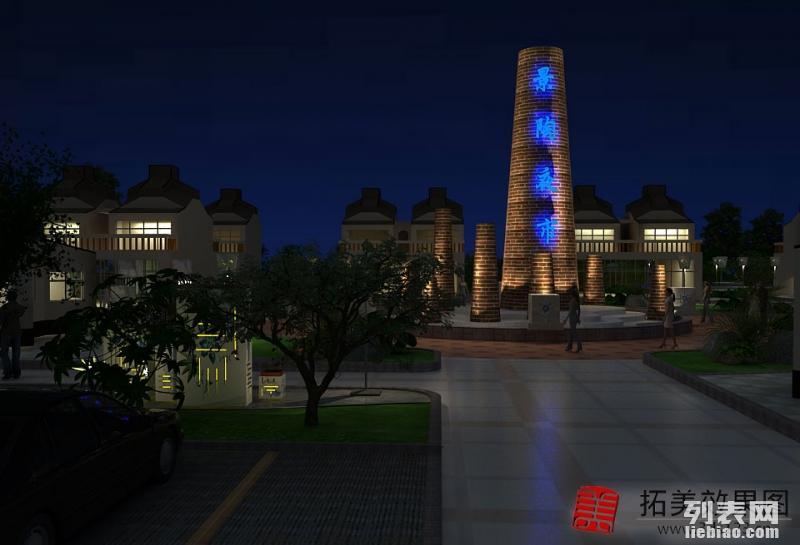芜湖做效果图制作 园林景观设计效果图 厂房建筑3d效果图