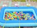 儿童钓鱼玩具池套装益智戏水磁性塑料鱼广场宝宝钓鱼池充气游加大 转