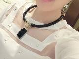 大牌复古亚克力装饰项链短款女衣服配饰锁骨链欧美夸张饰品 特价