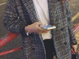 加厚 千鸟格大牌感宽松版版型超棒呢子大衣(优质面料)