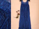 14精品大牌抽象图案星空光斑波西米亚飘逸真丝混纺连衣裙背心长裙