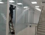 铝镁合金双层玻璃夹百叶隔断 高隔间 成品隔断