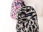 2014新款时尚双肩包 韩版潮流帆布迷彩双肩包 学生包旅行包
