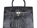 新款品牌女包时尚鳄鱼手提包 高端时尚铂金包 欧美外贸真皮女包