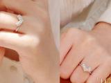 17-7-10  可爱小巧满钻爱心OL风格镶钻爱心女款戒指