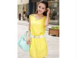一件代发夏装新款雪纺连衣裙韩版女甜美镶钻无袖背心裙显瘦包臀裙
