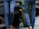 2014潮男秋冬新款男装牛仔裤蓝色弹力小脚裤男式韩版时尚修身