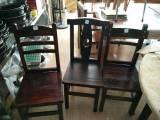 碳烧木椅子碳烧木靠背凳餐厅凳子乡村仿古田园风情餐厅