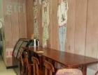 奶吧用全实木桌椅板凳,吧台。高脚椅。