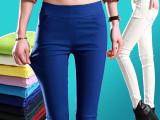 2015夏休闲裤 彩色铅笔裤 女式牛仔裤 糖果色小脚裤 修身打底