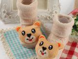新款春季防滑婴儿袜网眼公仔立体宝宝地板袜纯棉童袜厂家直供