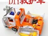 出口欧洲 DIY仿真玩具车 救护车