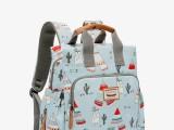 新款时尚妈咪包双肩手提包多功能大容量休闲外出母婴包