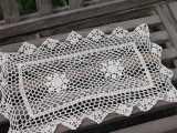 ZAKKA 长方形勾花 纯棉镂空餐垫