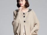 2014韩版蝙蝠袖针织衫开衫 短款斗篷针织毛衣女 宽松女式羊毛衫