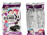 韩国原装进口 ZEK葡萄籽油烤海苔 即食海苔15g 儿童海苔