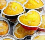 虹铝箔航空一次性餐盒外卖食品容器包装烘烤心形10套带盖