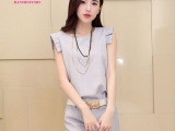 2014夏装新款时尚小香风休闲套装短袖短裤韩国欧洲站女装一件代发
