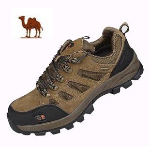 厂家现货真牛皮户外鞋低价批发 整单男鞋一手货源 厚底登山鞋防滑