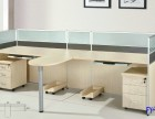 新款个性办公桌 钢架开放式桌椅员工位屏风卡座包送货