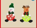 圣诞节小吊饰 可爱圣诞老人雪人圣诞鹿玩偶