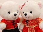 毛绒玩具小熊公仔 站姿情侣婚纱泰迪熊 婚庆礼物