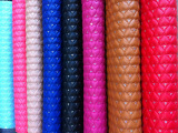 新款 三合一绣花 心形  PU革 汽车皮革  沙发皮革 外贸要求