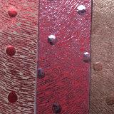 批发 人造毛皮革公司生产销售 特殊花点合成人造革 厂家直销
