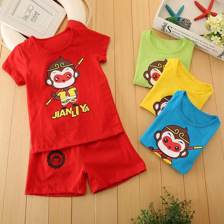 儿童短袖套装男女童宝宝纯棉套装