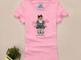 小熊维尼15年夏季高品质外贸原单大码半袖女士t恤 打底衫厂家直销