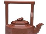 纯手工紫砂壶-荆溪提梁壶 宜兴原矿底槽青 钱丽媛作 收藏送礼茶具