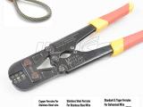8字不锈钢丝绳铝套卡夹头压线钳 钓鱼索铜管铝卡专用钳1.58-3