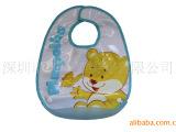 供应双层防水PVC+毛巾布儿童罩衣、围兜、围嘴、口水巾(可来样订