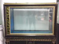欧式屏风生态玻璃鱼缸低价转让 带抽屉