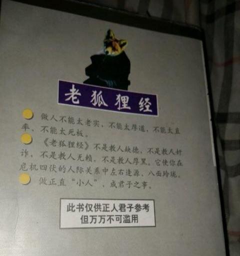 《老狐狸经》山阴慧人 90年代延边出版社 电子书