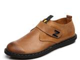 一手货源爆款男鞋真皮磨砂皮鞋英伦板鞋单鞋搭扣鞋复古司机鞋加盟