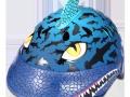 蓝色鲨鱼头盔