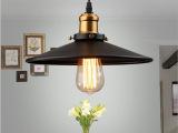批发复古创意餐厅单头铁艺吊灯简欧式美式楼梯工业新铜色吊灯