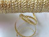 专业批发供应 首选耐用人造丝175米人丝全K金蜈蚣带纺织织带