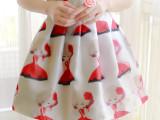 2015夏季新款韩版高腰百搭3D立体印花网纱蓬蓬裙半身裙女装短裙