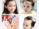开学备货 韩版儿童头发饰品 多彩格子棉兔耳朵发夹 11色 厂家批