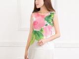 2014夏季新款 明星同款女装 时尚大牌网眼印花直筒显瘦女连衣裙