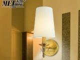 美红美式乡村镀铜壁灯现代卧室床头灯镜前灯欧式酒楼过道走廊壁灯