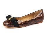 欧美大牌SF新款菱格豹纹单鞋外贸高端真皮女鞋微信货源一件代发